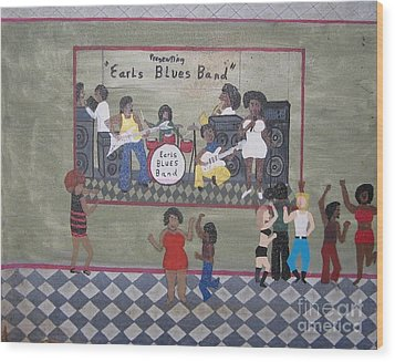Earls Blues Band Wood Print by Gregory Davis