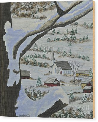 East Orange Vermont Wood Print by Charlotte Blanchard