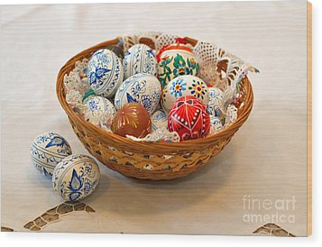 Easter Eggs Wood Print by Louise Heusinkveld