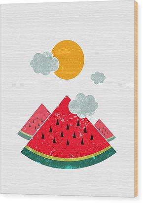 Eatventure Time Wood Print by Mustafa Akgul