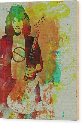 Eddie Van Halen Wood Print by Naxart Studio