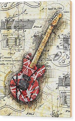 Eddie's Guitar II Wood Print by Gary Bodnar