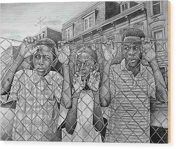 Education Is The Way Out Wood Print by Curtis James