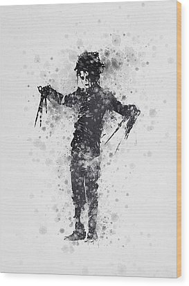 Edward Scissorhands 01 Wood Print by Aged Pixel