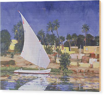 Egypt Blue Wood Print by Clive Metcalfe