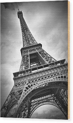 Eiffel Tower Dynamic Wood Print by Melanie Viola