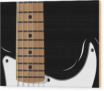 Electric Guitar Wood Print by Michael Tompsett