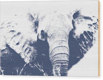 Elephant 4 Wood Print by Joe Hamilton