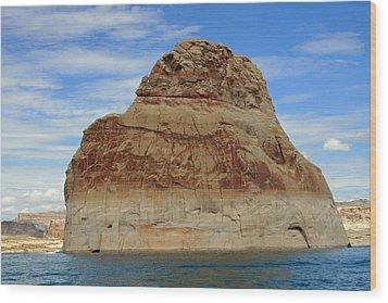 Elephant Rock Lake Powell Wood Print by Chuck Wedemeier