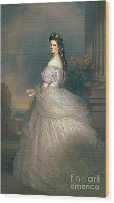 Elizabeth Of Bavaria Wood Print by Franz Xavier Winterhalter