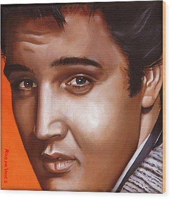 Elvis 24 1957 Wood Print by Rob De Vries