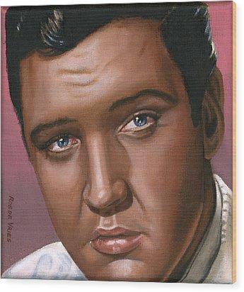 Elvis 24 1962 Wood Print by Rob De Vries
