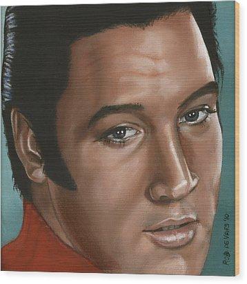 Elvis 24 1968 Wood Print by Rob De Vries
