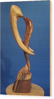 Embrace II Wood Print by Windy Dankoff