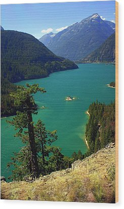 Emerald Lake Wood Print by Marty Koch
