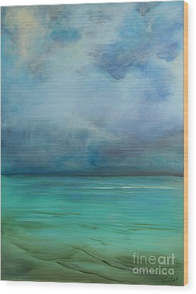 Emerald Waters Wood Print by Michele Hollister - for Nancy Asbell