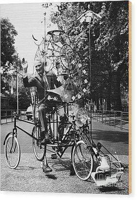 Emett: Lunacycle, 1970 Wood Print by Granger