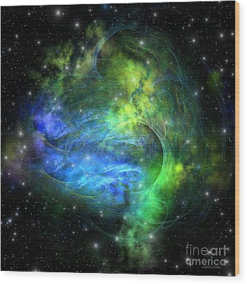 Emission Nebula Wood Print by Corey Ford