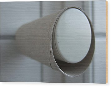 Empty Toilet Paper Roll Wood Print by Matthias Hauser