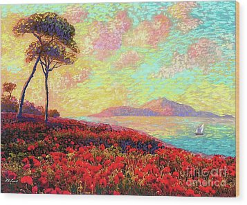Enchanted By Poppies Wood Print by Jane Small