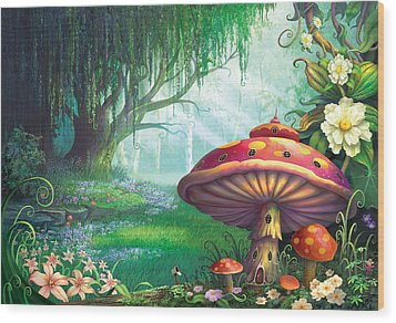 Enchanted Forest Wood Print by Philip Straub