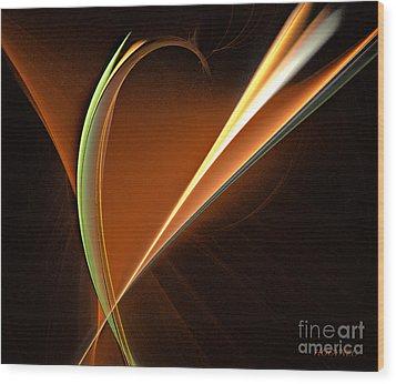 Energy Within Wood Print by Addie Hocynec