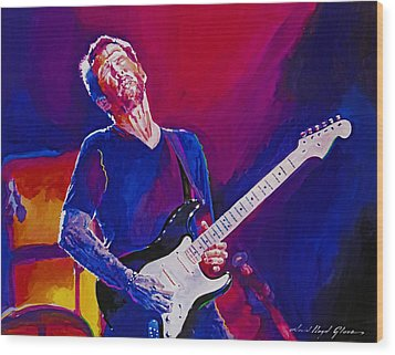 Eric Clapton - Crossroads Wood Print by David Lloyd Glover
