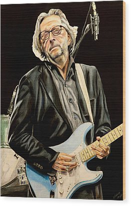 Eric Clapton Wood Print by Chris Benice