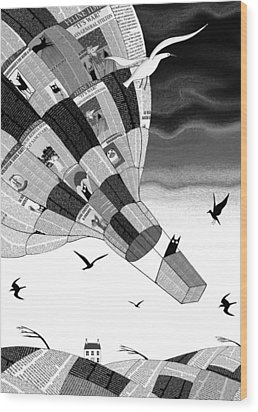 Escape Wood Print by Andrew Hitchen