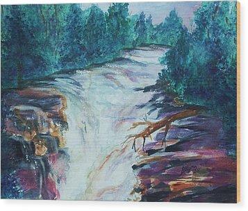 Esopus Creek Wood Print by Ellen Levinson