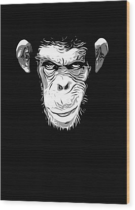 Evil Monkey Wood Print by Nicklas Gustafsson