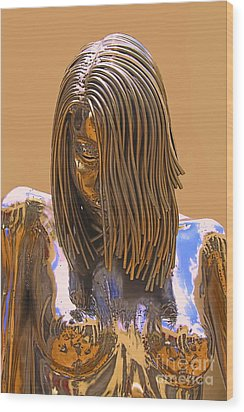 Evolution Of Eve Wood Print by Viktor Savchenko