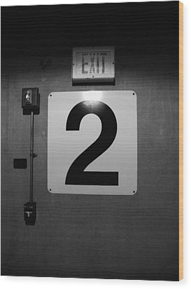 Exit Two Wood Print by Bob Orsillo