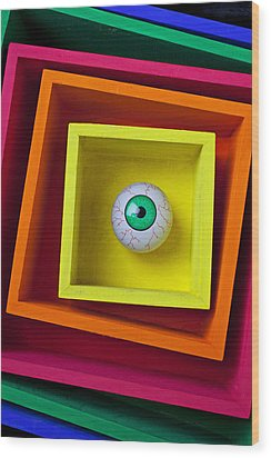 Eye In The Box Wood Print by Garry Gay