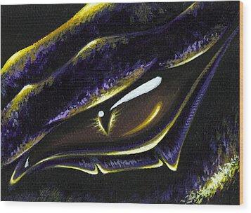 Eye Of Ametrine Wood Print by Elaina  Wagner