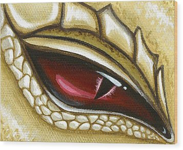 Eye Of Gold Dust Wood Print by Elaina  Wagner