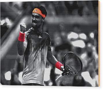 Fabio Fognini Wood Print by Brian Reaves