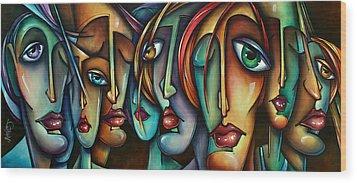 'face Us' Wood Print by Michael Lang