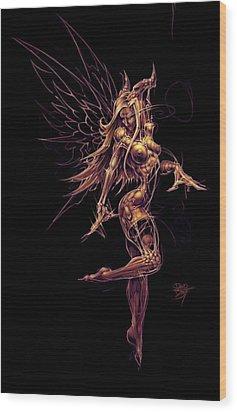 Fairy Star Child Wood Print by David Bollt