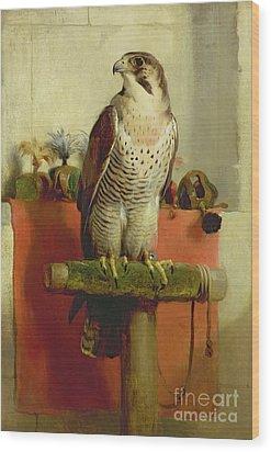 Falcon Wood Print by Sir Edwin Landseer