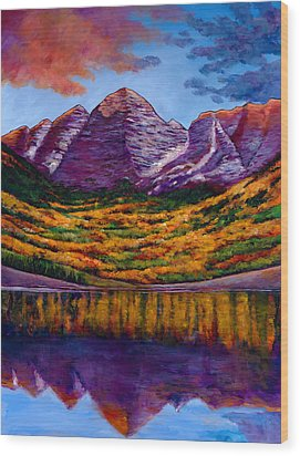 Fall Symphony Wood Print by Johnathan Harris