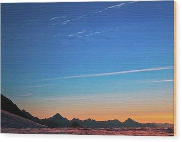 Far Mountains Wood Print by Konstantin Dikovsky