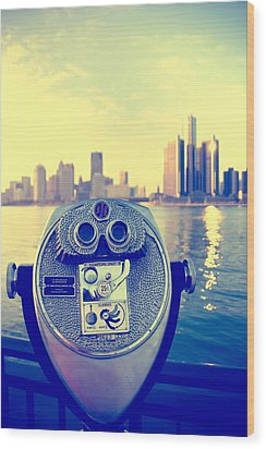 Faraway Detroit Wood Print by Andreas Freund