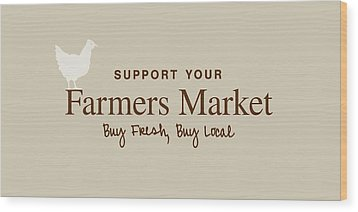Farmers Market Wood Print by Nancy Ingersoll