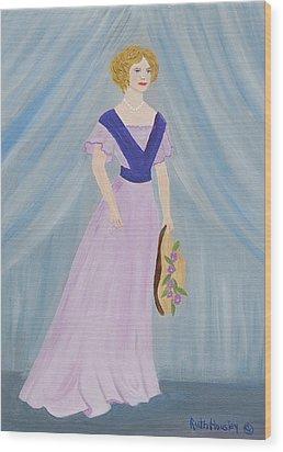 Fashion Lady Wood Print by Ruth  Housley