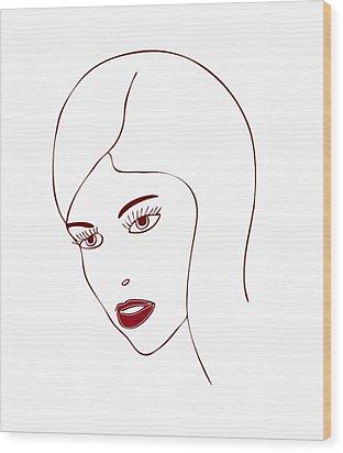 Fashion Model Wood Print by Frank Tschakert