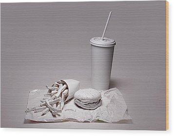 Fast Food Drive Through Wood Print by Tom Mc Nemar