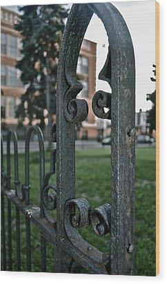 Fence Wood Print by Brynn Ditsche