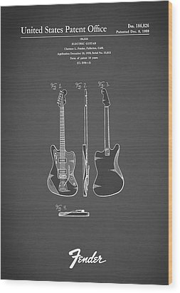 Fender Electric Guitar 1959 Wood Print by Mark Rogan