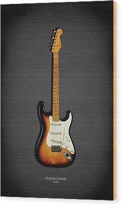 Fender Stratocaster 54 Wood Print by Mark Rogan